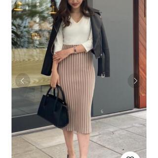 リエンダ(rienda)のrienda stripe tight knit op ストライプワンピース(ひざ丈ワンピース)