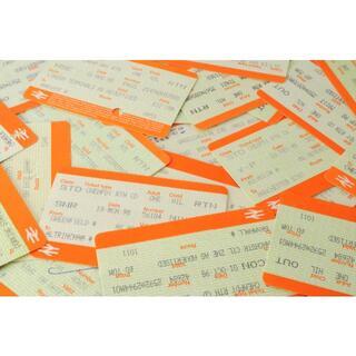 【味紙】★イギリス ヴィンテージ 鉄道 地下鉄 チケット 25枚セット★(印刷物)
