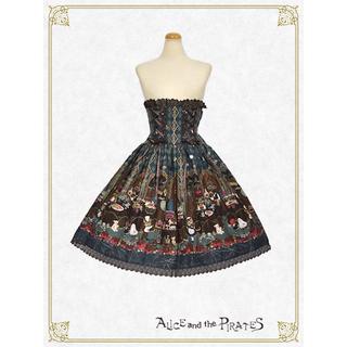 アリスアンドザパイレーツ(ALICE and the PIRATES)のミセス・ハロウィンアップルの奇妙な晩餐会柄スカート(ひざ丈スカート)