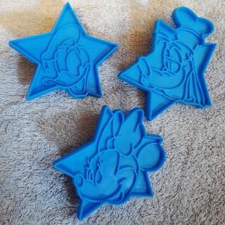 Disney - USED!ディズニー クッキー型 3種