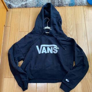 ヴァンズ(VANS)のvans 黒 パーカー(パーカー)