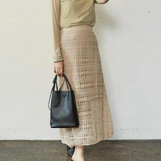 透かしシアーニットスカート アンレリッシュ スカート フレアスカート(ロングスカート)