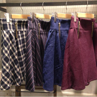 ページボーイ(PAGEBOY)のフロントジップスカート(ひざ丈スカート)