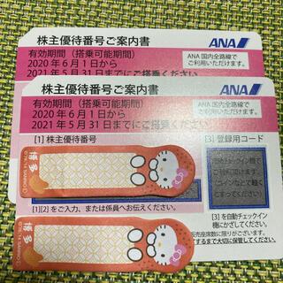 ANAの株主優待券2枚(航空券)
