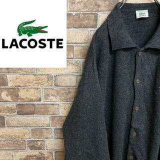 ラコステ(LACOSTE)の●ラコステ●80s スペイン製 襟付き カーディガン ラムウール ナイロン混(カーディガン)