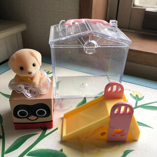 エポック(EPOCH)のシルバニア エポック 人形と滑り台 ハウス ミニチュア(ぬいぐるみ/人形)