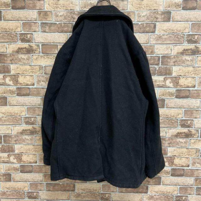 schott(ショット)の●ショット●usa製 Pコート ピーコート キルティング 中綿 ブラック メンズのジャケット/アウター(ピーコート)の商品写真