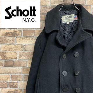 ショット(schott)の●ショット●usa製 Pコート ピーコート キルティング 中綿 ブラック(ピーコート)
