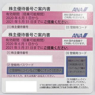ANA 全日空 株主優待券2枚 送料無料(航空券)