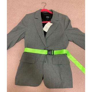 バレンシアガ(Balenciaga)のZARA ブレザー ジャケット ベルト付き off-white ストリート 韓国(テーラードジャケット)