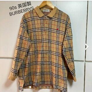 BURBERRY - 90s 英国製BURBERRYS ノバチェックポロシャツ