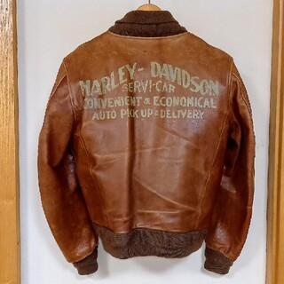 ハーレーダビッドソン(Harley Davidson)の【希少】ハーレーダビッドソン 本革革ジャン タンカースジャケット(レザージャケット)