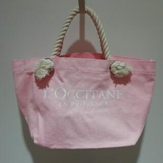 ロクシタン(L'OCCITANE)のロクシタン ピンクのコットントート(ハンドバッグ)