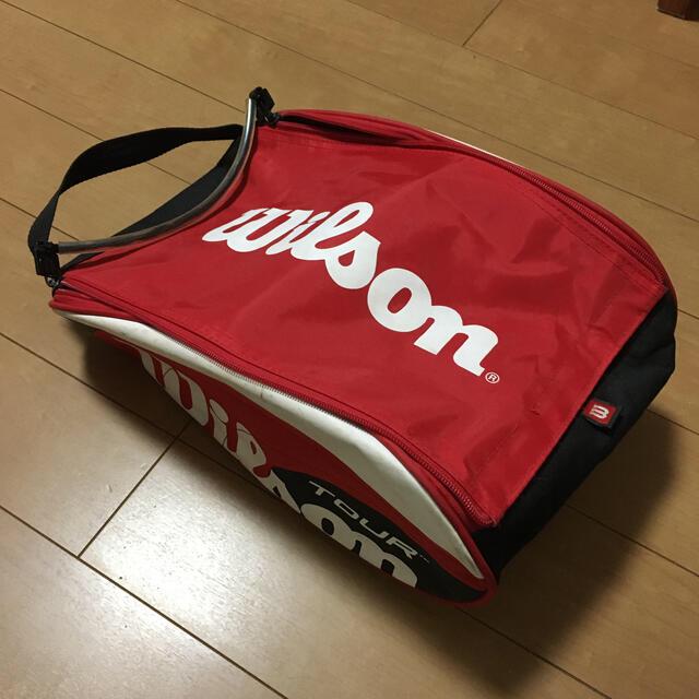 wilson(ウィルソン)のwilsonシューズケース スポーツ/アウトドアのテニス(バッグ)の商品写真