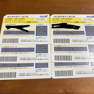 エーエヌエー(ゼンニッポンクウユ)(ANA(全日本空輸))のANA 株主優待券 6枚セット(航空券)