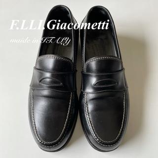 ジャコメッティ(Giacometti)のフラテッリジャコメッティ カーフレザー ローファー ブラック 39(ドレス/ビジネス)