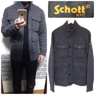 schott - SCHOTT ニットブルゾン ショット【美品】