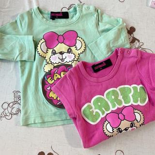 アースマジック(EARTHMAGIC)のEARTH MAGIC Tシャツ プリント 80cm 2枚セット ベビー キッズ(Tシャツ)