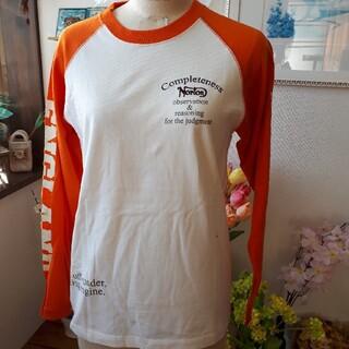 ノートン(Norton)の新品⭐Norton ノートン 長袖 Tシャツ⭐オフホワイト・オレンジ/メンズM(Tシャツ/カットソー(七分/長袖))