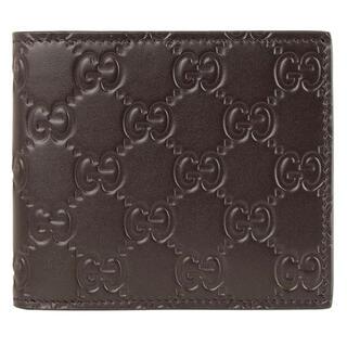 新品 グッチ GUCCI メンズ AVEL 二つ折り財布 札入れ ダークブラウン(折り財布)