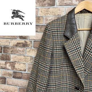 BURBERRY - ●バーバリー● テーラードジャケット 千鳥格子 ダブルポケット チェック柄