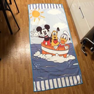 ディズニー(Disney)のDisney ミッキー ドナルド プルート 大判 ワイドタオル(タオルケット)