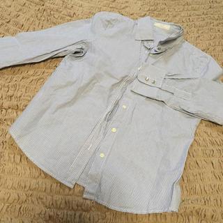 ストライプ ブルーシャツ(シャツ/ブラウス(長袖/七分))
