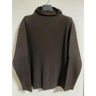 イッセイミヤケ(ISSEY MIYAKE)のHOMME PLISSE ISSEI MIYAKE タートルネック ブラウン(Tシャツ/カットソー(七分/長袖))