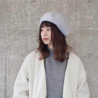 オーバーライド(override)のOVERRIDE ベレー帽 メンズ レディース オフホワイト アイボリー(ハンチング/ベレー帽)