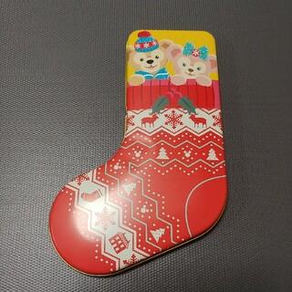 ダッフィー(ダッフィー)のダッフィー&シェリーメイお菓子缶①(キャラクターグッズ)