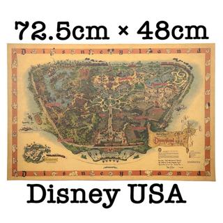【セール】ポスター 015 ディズニーランド USA 1958当時 大判地図(ポスター)