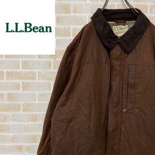 エルエルビーン(L.L.Bean)の●エルエルビーン● オイルドジャケット ビッグシルエット チェック ブラウン(その他)