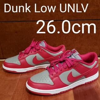 ナイキ(NIKE)のNIKE DUNK LOW UNLV 26.0cm(スニーカー)