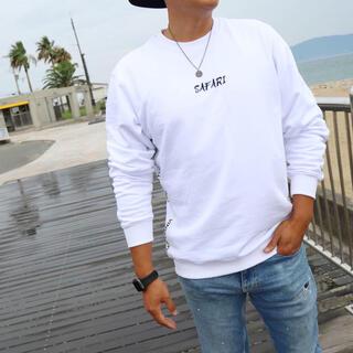 デウスエクスマキナ(Deus ex Machina)のストリート系☆LUSSO SURF テープ刺繍スウェット セーター Sサイズ(スウェット)