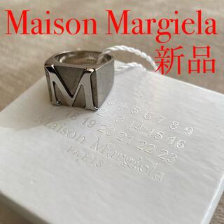 マルタンマルジェラ(Maison Martin Margiela)の新品 メゾン マルジェラ Mロゴ シグネットリング シルバー925 アンティーク(リング(指輪))