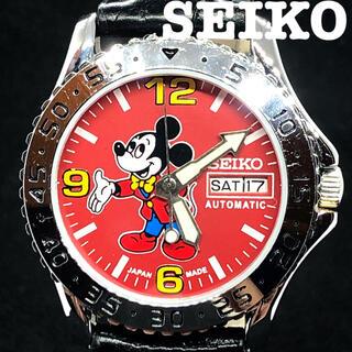 セイコー(SEIKO)の【激レア】SEIKO/ミッキーマウス/メンズ腕時計/レッド色/赤色/大人気(腕時計(アナログ))