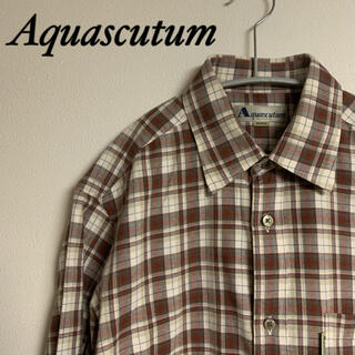 アクアスキュータム(AQUA SCUTUM)のAquascutum アクアスキュータム メンズ シャツ M(シャツ)