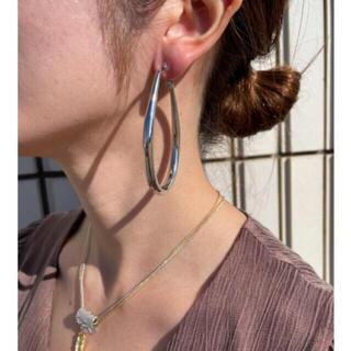 アズールバイマウジー(AZUL by moussy)のbig foop earrings-silver-(イヤリング)