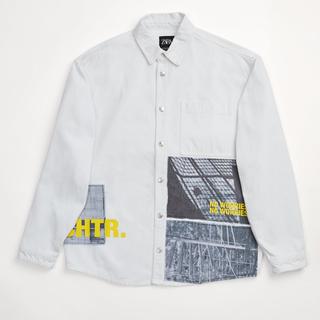 ZARA - ZARA デニムシャツジャケット メンズ S