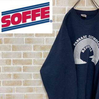 アンソフィーバックバック(ANN-SOFIE BACK/BACK)の●ソフィー● 90s usa製 スウェット トレーナー 裏起毛 ネイビー 紺(スウェット)