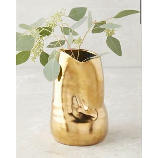 アンソロポロジー(Anthropologie)のAnthropologie ゴールドシャイン花瓶(花瓶)