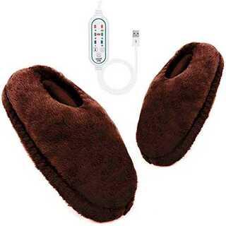 イエローフットウォーマー 電気足温器 冬用スリッパ 足元ヒーター USB足温器 (電気ヒーター)