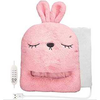 ピンク【スタンダード(温度設定&タイマー)】USB フットウォーマー マッサージ(電気ヒーター)
