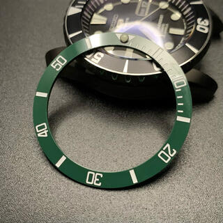 セイコー(SEIKO)のSEIKO セラミック ベゼル SNZF SNZF17 セイコー グリーンサブ(腕時計(アナログ))