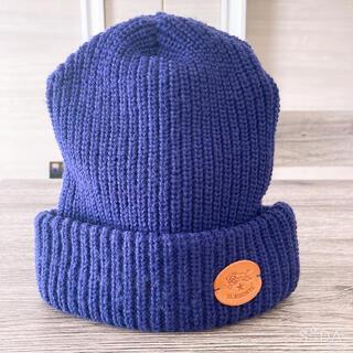 イルビゾンテ(IL BISONTE)のイルビゾンテ ニット帽 パープル 紫 ユニセックス レディース メンズ(ニット帽/ビーニー)