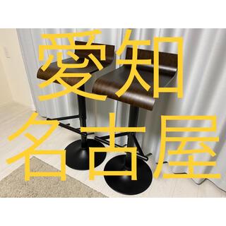 ニトリ(ニトリ)の愛知 カウンターチェア(TN-01 DBR) 2個セット ニトリ(その他)