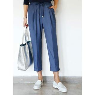 スタイルデリ(STYLE DELI)のスタイルデリ 裾折りセンターラインパンツB ブルー(カジュアルパンツ)