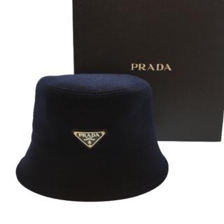 PRADA - PRADA バケットハット Mサイズ ネイビー ウール