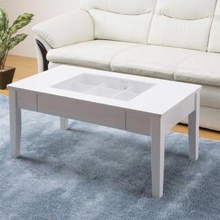 コレクション テーブル 鏡面仕上げ センターテーブル(ローテーブル)