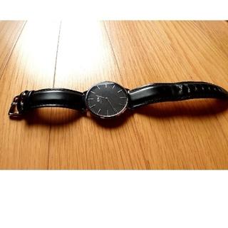 ダニエルウェリントン(Daniel Wellington)の40mmダニエルウエリントン腕時計 黒×シルバー(腕時計(アナログ))